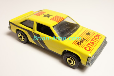 Hot Wheels Leo India Mattel Yellow Chevy Citation, hogd wheels,  loose