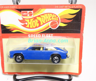 Hot Wheels Leo India Mattel Deep Blue Chevy Citation, BW wheels,  blisterpack