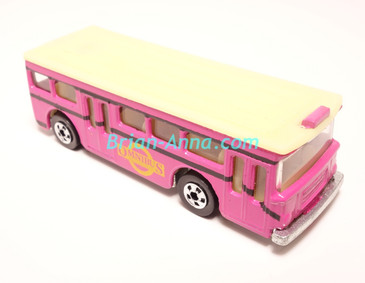 Hot Wheels Leo India Mattel Mild Pink, Single Decker Bus, Yellow/Gold Omnibus tampo,  loose