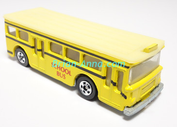 Hot Wheels Leo India Mattel Single Decker Bus, Yellow with School Bus tampo, loose