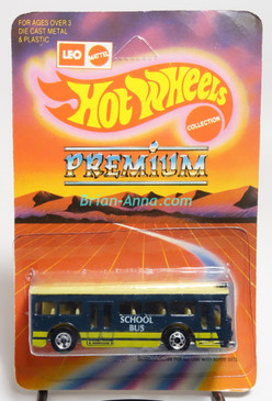 Hot Wheels Leo India Mattel Single Decker Bus, Dark Blue, with School Bus tampo, blisterpack