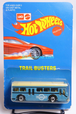 Hot Wheels Leo India Mattel Single Decker Bus, Light Blue, with Omnibus tampo, blisterpack