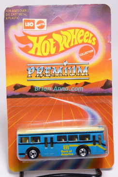 Hot Wheels Leo India Mattel Single Decker Bus, Light Blue w/Yellow/Black tampo, blisterpack