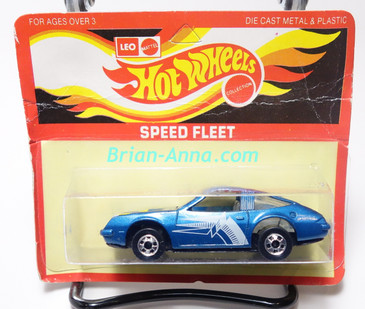 Hot Wheels Leo India Mattel Chevy Monza in Blue, blisterpack