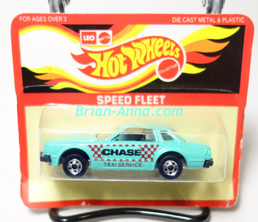 Hot Wheels Leo India Mattel Datsun 200SX in Aqua, Chase Taxi Service tampo