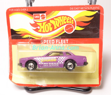 Hot Wheels Leo India Mattel Datsun 200SX in Purple with Chase Taxi Service artwork tampo, blisterpack