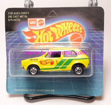Hot Wheels Leo India Mattel Hare Splitter, Yellow, Lacoste tampo, BW wheels, blisterpack