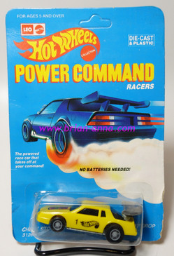 Hot Wheels Leo India Mattel Power Command, Chevy Stock in Yellow, blisterpack