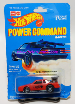 Hot Wheels Leo India Mattel Power Command, Chevy Stock in Red, blisterpack