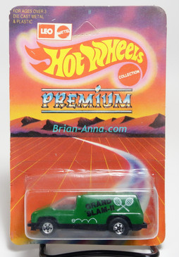 Hot Wheels Leo India Mattel Inside Story, Forest Green, Grand Slam II tampo, blisterpack