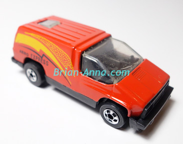 Hot Wheels Leo India Mattel Inside Story in Red with Aero Express tampo, BW wheels, loose