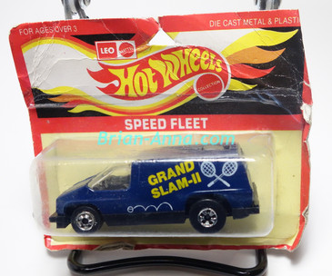 Hot Wheels Leo India Mattel Inside Story, Dark Blue, Grand Slam II tampo, blisterpack
