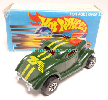 Hot Wheels Leo India Mattel Neet Streeter in Dark Green with Yellow tampos, BW wheels, w/box