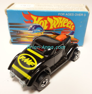 Hot Wheels Leo India Mattel Neet Streeter in Black with Yellow tampos, BW wheels, w/box