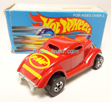 Hot Wheels Leo India Mattel Neet Streeter in Red with Yellow tampos, BW wheels, w/box