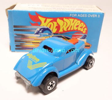 Hot Wheels Leo India Mattel Neet Streeter in Light Blue with Yellow tampos, BW wheels, w/box