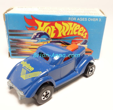 Hot Wheels Leo India Mattel Neet Streeter in Dark Blue with Yellow tampos, BW wheels, w/box