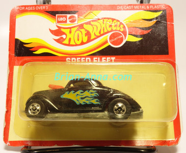 Hot Wheels Leo India Mattel Neet Streeter in Black with side flame tampo, BW wheels, blisterpack
