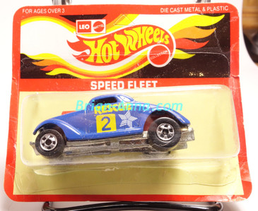 Hot Wheels Leo India Mattel Neet Streeter in Deep Blue with Rescue tampo on side, BW wheels, blisterpack