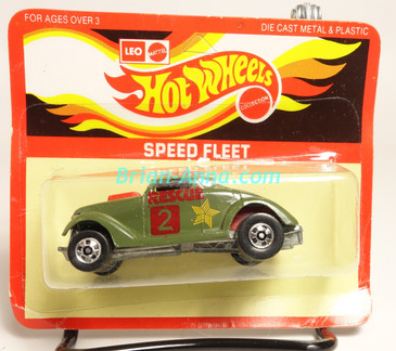 Hot Wheels Leo India Mattel Neet Streeter in Green with Rescue tampo on side, BW wheels, blisterpack