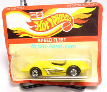 Hot Wheels Leo India Mattel Second Wind, Bright Yellow, tampo on side, BW wheels, blisterpack