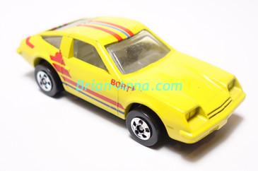 Hot Wheels Leo India Mattel Chevy Monza, Bright Yellow, Bort tampo, blackwall wheels, loose