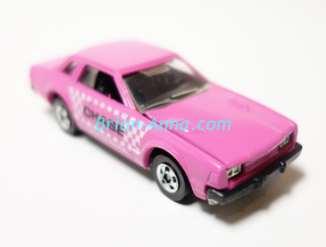 Hot Wheels Leo India Mattel Datsun 200SX, Pink, Chase Taxi tampo on side, blackwall wheels, loose