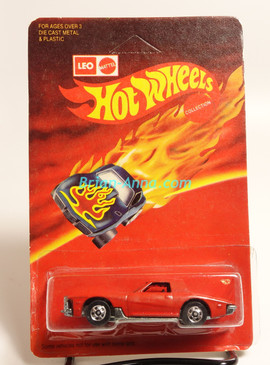 Hot Wheels Leo India Mattel Stutz Black Hawk in Red, BW wheels, Unpunched blisterpack