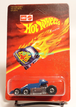 Hot Wheels Leo India Mattel Lickety Six, Dark Enamel Blue, BW wheels, Unpunched blisterpack