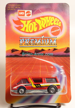 Hot Wheels Leo India Mattel Dream Van, Red with side tampo, BW wheels, Unpunched blisterpack