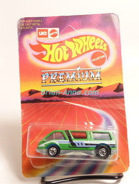 Hot Wheels Leo India Mattel Dream Van, Green with side tampo, BW wheels, Unpunched blisterpack