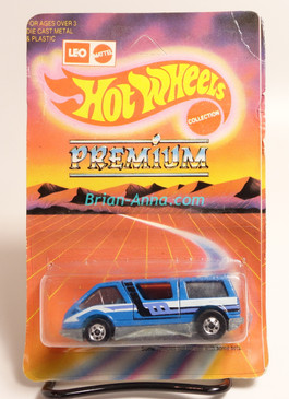 Hot Wheels Leo India Mattel Dream Van, Blue Enamel with 3-color side tampo, BW wheels, Unpunched blisterpack