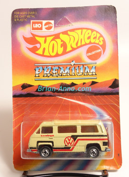 Hot Wheels Leo India Mattel VW Sunagon, Beige, Red/Black tampo on side, BW wheels, unpunched blisterpack