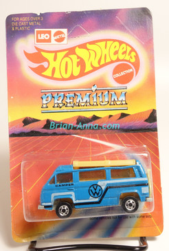 Hot Wheels Leo India Mattel VW Sunagon, Blue enamel Black/White tampo on side, BW wheels, blisterpack