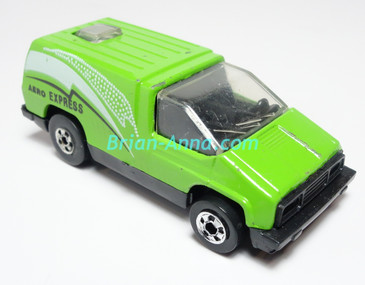 Hot Wheels Leo India Mattel Inside Story, Bright Green, White/Black, tampo on side, BW wheels, loose