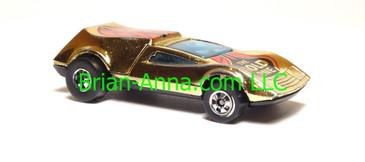 Hot Wheels Gold Chrome Buzz Off, BW wheels, Hong Kong base, loose