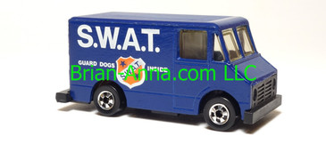 Hot Wheels Scene Machine SWAT Van, Dark Blue, BW wheels, Hong Kong base, loose