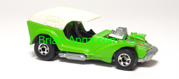 Hot Wheels Ice T, Enamel Green, BW wheels, Hong Kong base, loose
