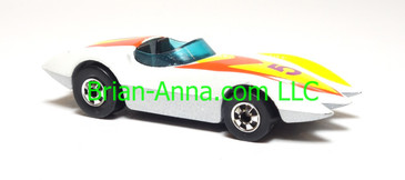 Hot Wheels Second Wind, White, bw wheels, Hong Kong base, loose