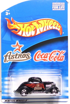 Houston Astro's Hot Wheels Black 3-window 1934 Ford Coupe Coca-Cola