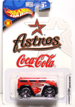 Houston Astro's Hot Wheels Red H2 Hummer Coca-Cola