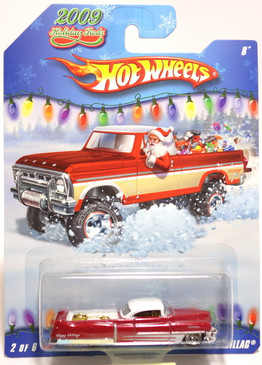 Hot Wheels 2009 Holiday Rods, Custom '53 Cadillac in Metallic Red
