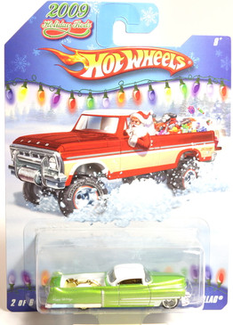 Hot Wheels 2009 Holiday Rods, Custom '53 Cadillac in Metallic Light Green