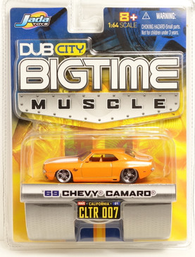Jada Toys Dub City Big Time Muscle 1969 Chevy Camaro in Bright Metallic Orange