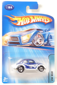 2005 Hot Wheels Collector Number 184 Kar Keeper Exclusive VW Bug in Metalflake Blue