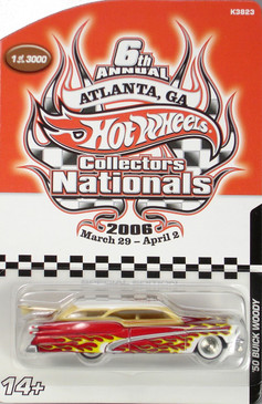6th Hot Wheels Nationals Custom '50's Buick Woody Wagon limited run special edition