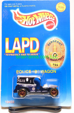 LAPD Paddy Wagon Limited Edition Hot Wheels - NON MINT PKGS