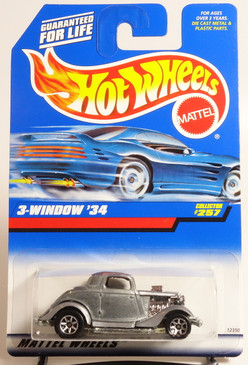 Hot Wheels Zamac 3-window '34 collector number 257