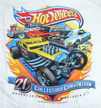 21st Hot Wheels Collectors Convention T-shirt - on back of shirt
