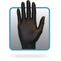 Safety Zone Black 5 Mil Nitrile Gloves Powder Free  100/Box   10 Box/CS